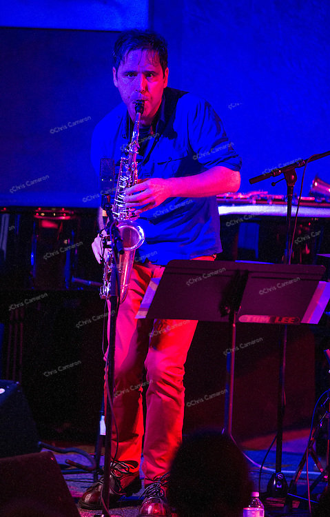 Andrew D'Angelo plays with Human Feel at the Ironworks June 29, 2014