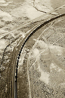 aerial photograph train southern Wyoming