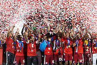 Frisco, TX. - September 13, 2016: FC Dallas goes on to beat the New England Revolution 4-2 to win the 2016 US Open Cup Final at Toyota Stadium.
