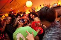 Party goers at La Dame Noire, Marseille, 16 June 2011