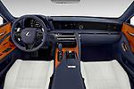Stock photo of straight dashboard view of 2018 Lexus LC 500 4 Door Sedan