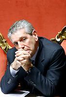 GIAMPAOLO DI PAOLA.Roma 22/12/2011 Senato. Voto di Fiducia sulla Manovra Economica.Votation at Senate about austerity plan. .Photo Samantha Zucchi Insidefoto