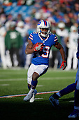 Buffalo Bills Isaiah McKenzie (19) rushes up field during an NFL football game against the New York Jets, Sunday, December 9, 2018, in Orchard Park, N.Y.  (Mike Janes Photography)