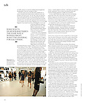 """Big in Baku,"" T: The New York Times Style Magazine, August 19, 2012, p. 150.<br />