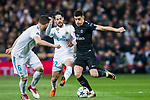 Yuri Berchiche (R) of Paris Saint Germain fights for the ball with Isco Alarcon of Real Madrid during the UEFA Champions League 2017-18 Round of 16 (1st leg) match between Real Madrid vs Paris Saint Germain at Estadio Santiago Bernabeu on February 14 2018 in Madrid, Spain. Photo by Diego Souto / Power Sport Images