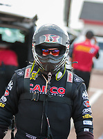 Apr 12, 2019; Baytown, TX, USA; NHRA top fuel driver Billy Torrence during qualifying for the Springnationals at Houston Raceway Park. Mandatory Credit: Mark J. Rebilas-USA TODAY Sports
