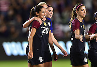 Carson, CA - November 13, 2016: The U.S. Women's National team take a 3-0 lead over Romania with Christen Press contributing a goal in an international friendly game at StubHub Center.