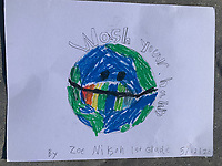 Wash your hands world. Zoe Nilson Grade 1. Yarmouth Maine