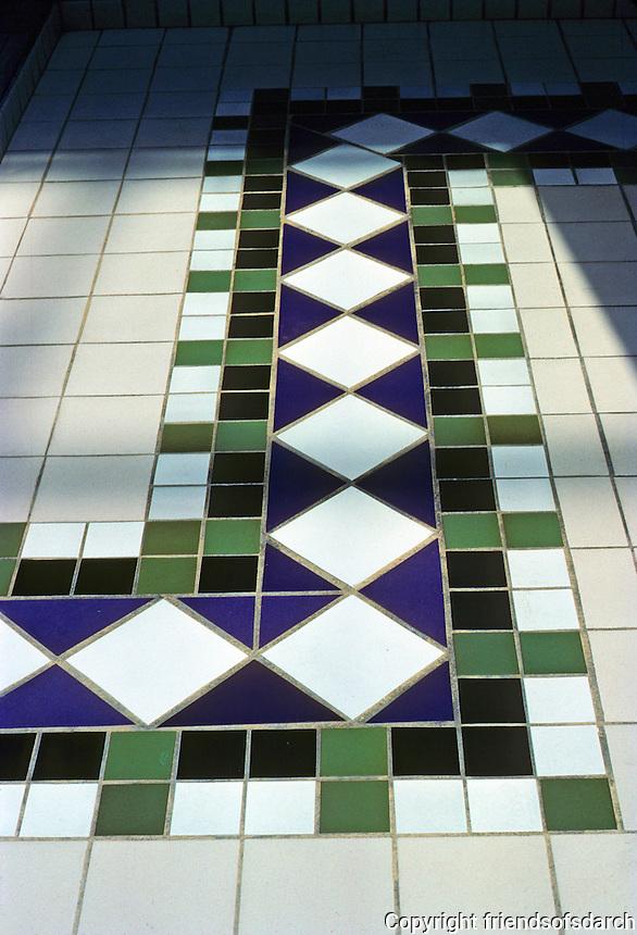 St. Louis: St. Louis Centre--Detail of tile floor. Photo '88.