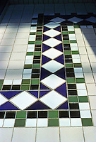 St. Louis: St. Louis Centre--Detail of tile floor. Photo '88.