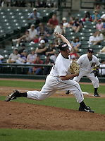August 15, 2004:  Pitcher Aaron Fultz of the Rochester Red Wings, Triple-A International League affiliate of the Minnesota Twins, during a game at Frontier Field in Rochester, NY.  Photo by:  Mike Janes/Four Seam Images