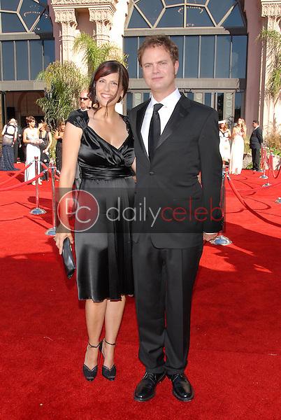 Rainn Wilson and Holiday Reinhorn<br />arriving at the 58th Annual Primetime Emmy Awards. The Shrine Auditorium, Los Angeles, CA. 08-27-06<br />Scott Kirkland/DailyCeleb.com 818-249-4998