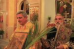Israel, Lower Galilee, Palm Sunday at the Greek Catholic Church in Nazareth