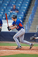 Jake Slaughter (23) of Ouachita Christian School in Monroe, Louisiana playing for the New York Mets scout team during the East Coast Pro Showcase on July 29, 2015 at George M. Steinbrenner Field in Tampa, Florida.  (Mike Janes/Four Seam Images)