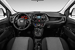 Stock photo of straight dashboard view of 2017 Ram Promaster City SLT 5 Door Mini Mpv Dashboard