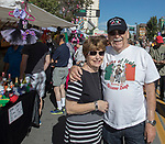 Laurene and Ray Vasconcellos from Redding, CA during the Italian Festival in downtown Reno on Saturday, Oct. 7, 2017.