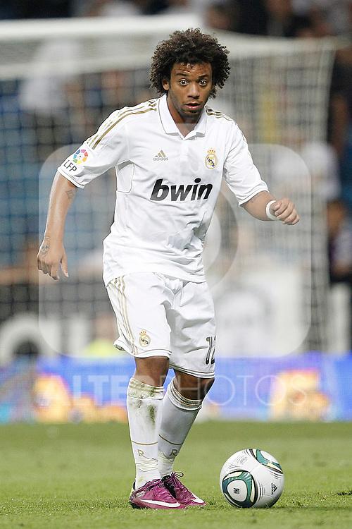Real Madrid's Marcelo during Santiago Bernabeu Cup on august 24th 2011...Photo: Cesar Cebolla / ALFAQUI