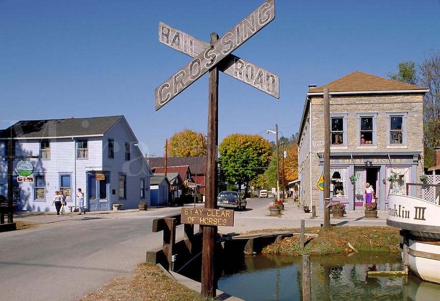 Whiterwater Canal State Historic Site. Metamora is an 1838 restored town on the old Whitewater Canal. Metamora Indiana.