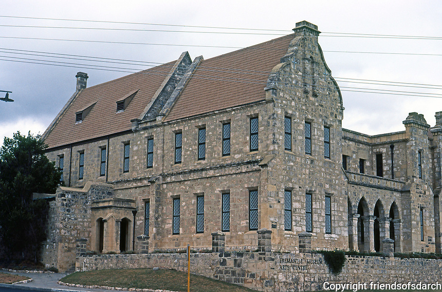 Fremantle: Museum and Arts Center 1861-65, North Section. Former Lunatic Asylum, then Old Women's Home. Photo '82.