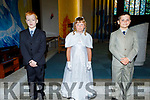 Dominic Rojek, Emily Egan Smith and Gregory Gurstowski at their First Holy Communion in St Brendan's Church on Saturday.