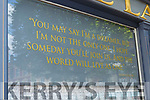 John Lennon quote on  Laurels bar window