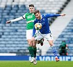 St Johnstone v Hibs…22.05.21  Scottish Cup Final Hampden Park<br />Jamie McCart battles with Kevin Nisbet<br />Picture by Graeme Hart.<br />Copyright Perthshire Picture Agency<br />Tel: 01738 623350  Mobile: 07990 594431