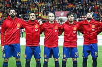 Spain's Diego Costa, Thiago Alcantara, Andres Iniesta, David Jimenez Silva and Jordi Alba during FIFA World Cup 2018 Qualifying Round match. March 24,2017.(ALTERPHOTOS/Acero) /NortePhoto.com