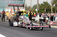 27th September 2020, Gainsville, Florida, USA;  Top Fuel driver Steve Torrence (1)   CAPCO Contractors Inc during the 51st annual Amalie Motor Oil NHRA Gatornationals