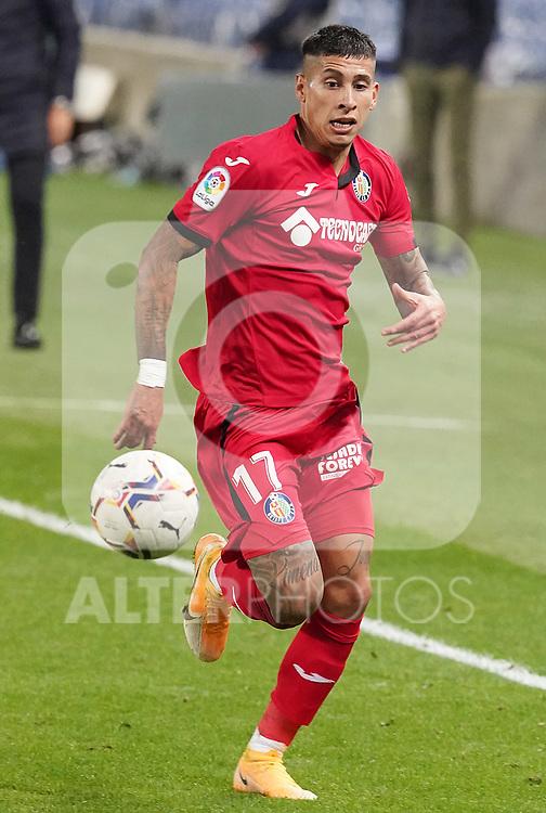 Getafe CF's Mathias Olivera during La Liga match. October 3, 2020. (ALTERPHOTOS/Acero)