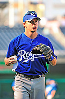 21 June 2010: Kansas City Royals second baseman Chris Getz warms up prior to a game against the Washington Nationals at Nationals Park in Washington, DC. The Nationals edged out the Royals 2-1 in the first game of their 3-game interleague series, snapping a 6-game losing streak. Mandatory Credit: Ed Wolfstein Photo