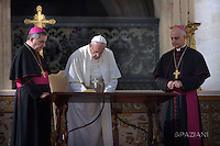 Francis ends Jubilee of mercy .Papa Francis signed his apostolic letter at the end of the Eucharistic celebration. 'Mercy et miserable' is addressed to the whole Church to live on the mercy with the same intensity experienced during the entire extraordinary Jubilee. On behalf of the entire People of God,