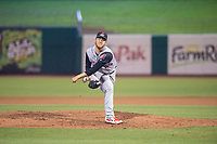 Arkansas Travelers pitcher Matt Tenuta (43) delivers a pitch during a Texas League game between the Northwest Arkansas Naturals and the Arkansas Travelers on May 30, 2019 at Arvest Ballpark in Springdale, Arkansas. (Jason Ivester/Four Seam Images)