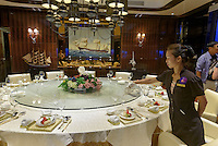 Restaurant des Jachtclub in Sanya auf der Insel Hainan China<br /> Restaurant of Yacht-Club, Sanya, Hainan island, China