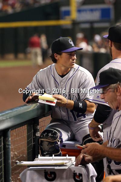 Tony Wolters - 2016 Colorado Rockies (Bill Mitchell)