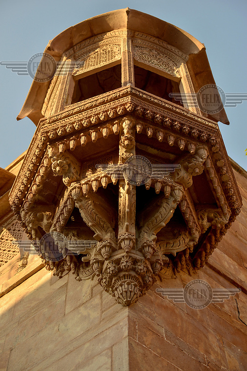 An original exterior design at The Raas, a luxury Heritage Hotel in the historical centre of Jodhpur.