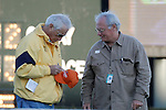 """D. Wayne Lukas signing a cap for a fan before the Smarty Jones stakes, he went on to having the winning horse with """"Will Take Charge"""". Jan.21, 2013 - Hot Springs, Arkansas, U.S -   (Credit Image: © Justin Manning/Eclipse/ZUMAPRESS.com)"""