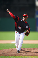 Batavia Muckdogs starting pitcher Jose Diaz (41) during a game against the Hudson Valley Renegades on July 31, 2016 at Dwyer Stadium in Batavia, New York.  Hudson Valley defeated Batavia 4-1. (Mike Janes/Four Seam Images)