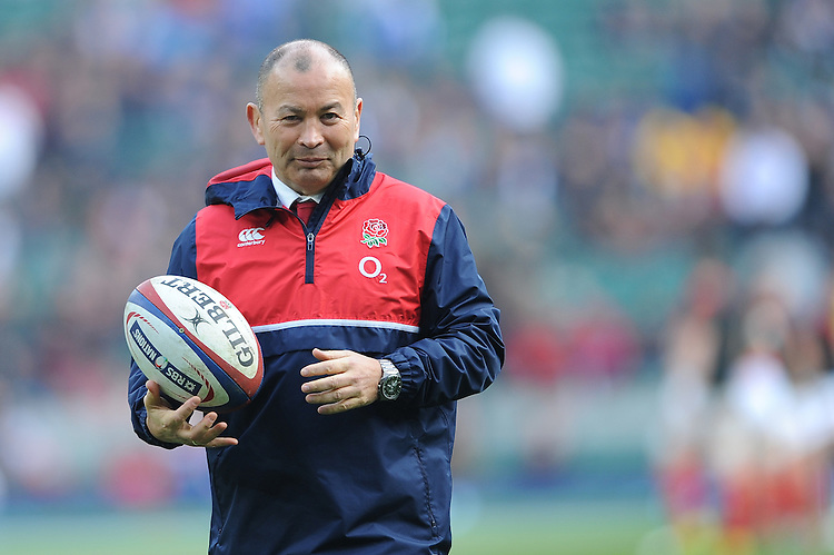 Eddie Jones, England Head Coach, before the RBS 6 Nations match between England and Wales at Twickenham Stadium on Saturday 12th March 2016 (Photo: Rob Munro/Stewart Communications)