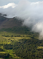 Clouds moving in, summer storm in Colorado Rockies.