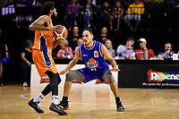 Troy McLean of the Wellington Saints during the round two NBL match between the Wellington Saints and the Southland Sharks at TSB Bank Arena, Wellington, New Zealand on Friday 7 May 2021.<br /> Photo by Masanori Udagawa. <br /> www.photowellington.photoshelter.com