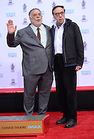 Francis Ford Coppola + Peter Bogdanovich @ Francis Ford Coppola Hand & Foot Print ceremony held @the TCL Chinese theatre.<br /> April 29, 2016