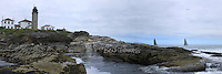 A sailor's view of the Beavertail Lighthouse.