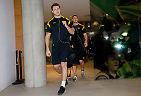 Photo: Richard Lane/Richard Lane Photography. Leinster Rugby v Wasps.  European Rugby Champions Cup Quarter Final. 01/04/2017. Wasps' captain, Joe Launchbury arrives at the stadium.