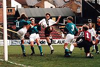 Kerry Davis of England goes close during England Women vs Germany Women, European Championship Semi-Final 1st Leg Football at Vicarage Road, Watford FC on 11th December 1994