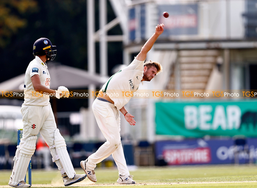 Adam Finch bowls for Worcestershire during Kent CCC vs Worcestershire CCC, LV Insurance County Championship Division 3 Cricket at The Spitfire Ground on 6th September 2021