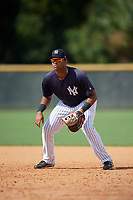 New York Yankees Dermis Garcia (47) during a Florida Instructional League game against the Philadelphia Phillies on October 11, 2018 at Yankee Complex in Tampa, Florida.  (Mike Janes/Four Seam Images)