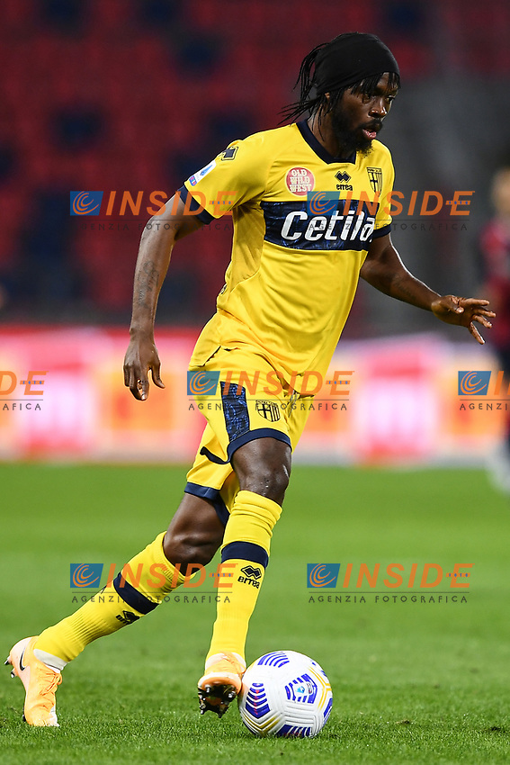 Gervinho <br /> during the Serie A football match between Bologna FC and Parma Calcio 1913 at stadio Renato Dall Ara in Bologna (Italy), September 28th, 2020. Photo Image Sport / Insidefoto