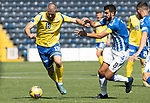 Kilmarnock v St Johnstone……15.08.20   Rugby Park  SPFL<br />Shan Rooney and Gary Dicker<br />Picture by Graeme Hart.<br />Copyright Perthshire Picture Agency<br />Tel: 01738 623350  Mobile: 07990 594431