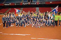 Netherlands, Den Bosch, April 18 2015 Maaspoort, Fedcup Netherlands-Australia,  <br /> Photo: Tennisimages/Henk Koster