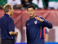Jurgen Klinsmann, Martin Vasquez. The USMNT tied Mexico, 1-1, during their game at Lincoln Financial Field in Philadelphia, PA.
